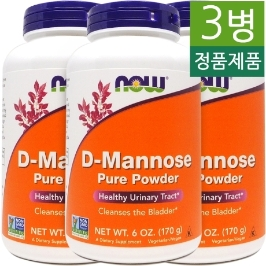 [해외배송] 3병 나우푸드 디만노스 D-Mannose 2000mg 천연파우더 170g __