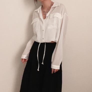 스트링 투포켓 셔츠 (3color) _커밍스토리