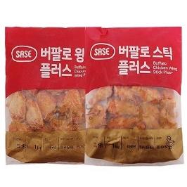 [더싸다특가] 사세 버팔로윙1kg+버팔로봉1kg(혼합형)