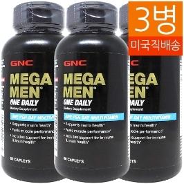 [지앤씨] [해외배송] 3병 GNC 메가맨 원데일리 비타민 60정