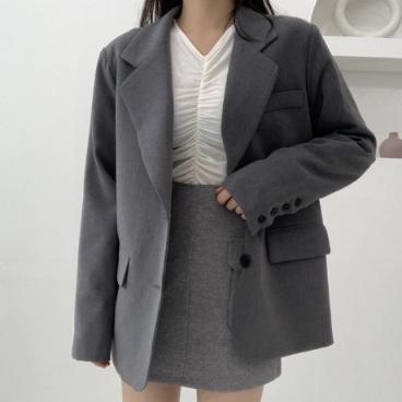 [MD 추천] 투 버튼 시크 자켓 (3 color)_이옷주세요