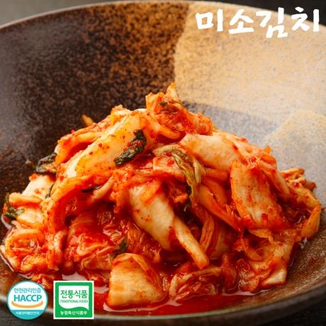 [미소김치] 국산재료 썰은 배추김치 맛김치 2kg