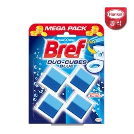 [원더배송] 브레프 변기세정제 듀오큐브 블루 4P