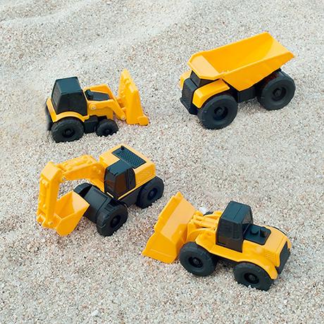 BUCHU CAR 모래놀이 미니머신 4팩 포크레인 장난감 중장비 장난감