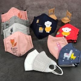 쿠폰할인 KC인증 유아동 어린이 숨쉬기 편한 3D 입체 코튼 마스크 일회용마스크 5장