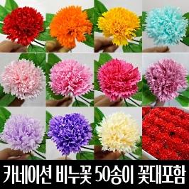 카네이션비누꽃 50송이/어버이날 스승의날 비누꽃재료 비누카네이션 만들기재료