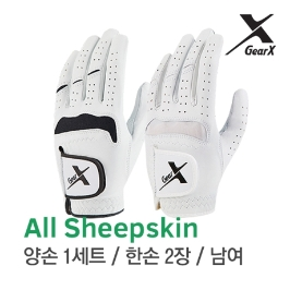 [기어엑스] 골프장갑-남자 여성 천연양피 2장