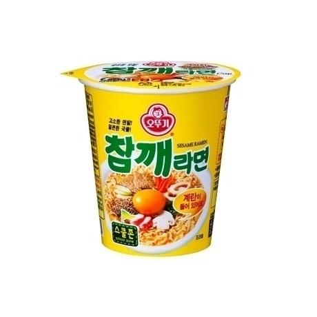 [오뚜기] 오뚜기 참깨라면 미니컵 65g 10개