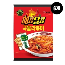 [원더배송] 농심 쿡탐매콤달콤국물라볶이 390g 6봉
