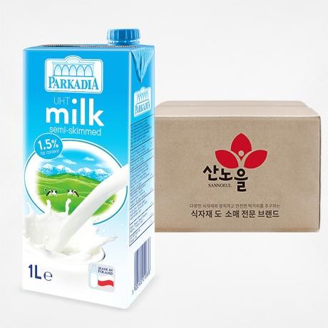 파르카디아 저지방 멸균우유 1BOX(1000mlX12개)