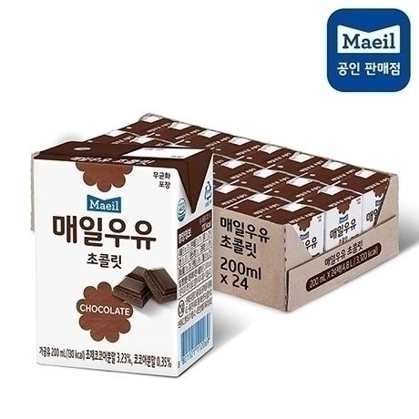 [매일우유] 매일멸균 초코우유 200ml x 24팩 x 2박스 - 유통기간 : 20년1월20일까지