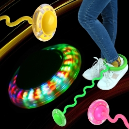 LED발목형 줄넘기(파도형) (색상랜덤) LED줄넘기 발줄넘기 어린이줄넘기 체육준비물