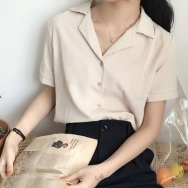 솔리드 스퀘어 셔츠 woman_BL_09