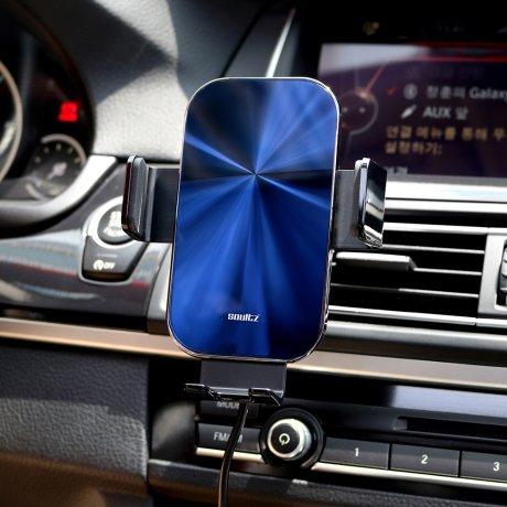 솔츠 차량용 핸드폰 15W 무선 고속 충전 거치대 X7