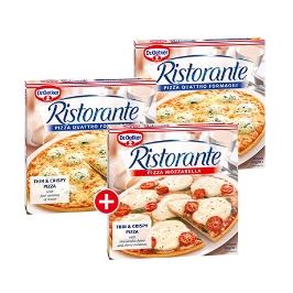 리스토란테 냉동 피자 2+1 모짜렐라/콰트로