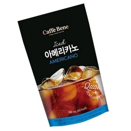 [싸고빠르다] 카페베네 아메리카노 파우치 190ml 1봉