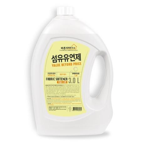 ★[무궁화]바른세제연구소 섬유유연제(코튼) 3L