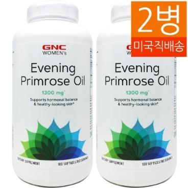 [해외배송] 2병/180젤 GNC 우먼스 달맞이꽃 종자유 1300mg