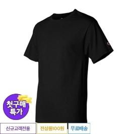 [첫구매특가] 챔피온 베이직 반팔티 T425 블랙
