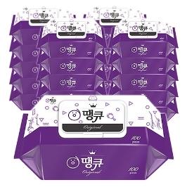 [더싸다특가] 땡큐 물티슈 Original 100매(캡형) x  20팩