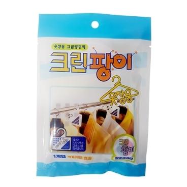 [싸고빠르다] 크린팡이 옷장용 방충제 1입