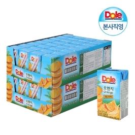 Dole 오렌지 프리미엄 100% 과즙주스 2박스 (총 120mlx64팩)