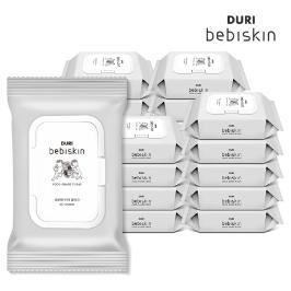 [더싸다특가] 베비스킨 초순수 비데물티슈 캡 60매 10팩