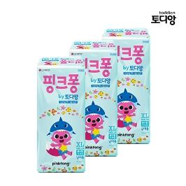 [토디앙] LG 토디앙 핑크퐁 팬티 기저귀 특대형 남아 36매 x3팩(1박스)[베]
