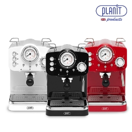[사은품 3종] 영국 플랜잇 에스프레소 커피머신 홈카페프레소 투샷 반자동 스팀 15bar 커피메이커