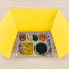 오피스존 개인위생가림판 식당 급식 비말 차단 칸막이