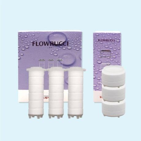 [플로루찌]주방용 핸디 필터(3입) 불순물 염소 녹물제거 수전