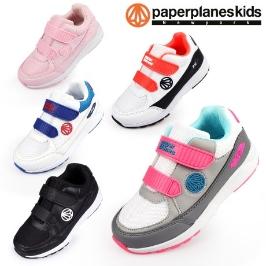 (페이퍼플레인 키즈)아동 운동화 키즈 신발 남아 여아 유아 아동화 주니어 어린이 초등학생 브랜드 벨크로 슈즈 단화