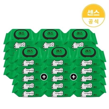 [센스] 센스물티슈 악어 캡형 100매 10+10+10팩(총30팩)