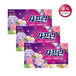 샤프란 시트 섬유유연제 후레쉬 30매x3개
