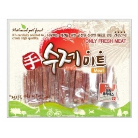 수제미트 대용량 강아지간식 (오리슬라이스) 300g