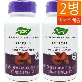 [네이쳐스웨이] [해외배송] 2병 네이쳐스웨이 레이쉬 영지버섯 추출물 100야채캡슐