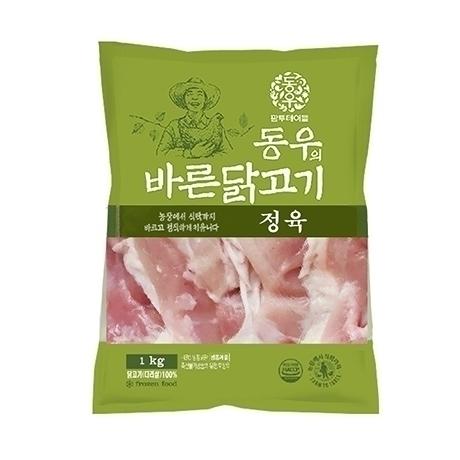 동우 바른닭고기 국내산 닭다리살 정육 S/O 냉동 1kg x 3팩 - 개당 6,500원