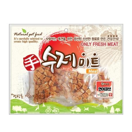 수제미트 대용량 강아지간식 연어큐브 300g