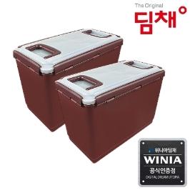 위니아딤채 김치냉장고 전용용기 14.1L EZ용기 2개입 (도번 1492)
