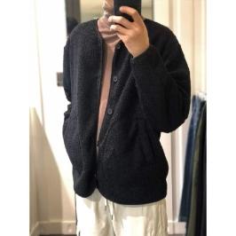 (현대백화점)[애드혹]애드호크 (HVAGD90) 투포켓 양털 뽀글이 가디건 점퍼