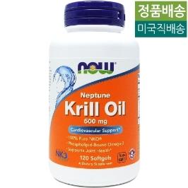 [해외배송] 120젤 나우푸드 크릴 오일 Krill Oil 500mg__