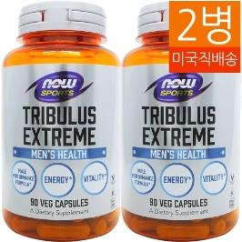 [해외배송] 2병 나우푸드 스포츠 트리뷸러스 익스트림 Tribulus 1000mg 90베지캡__