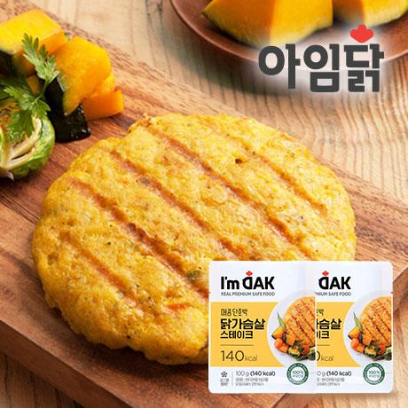 매콤 단호박 닭가슴살 스테이크 100g 1+1팩