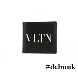 [샵디벙크]19FW VALENTINO 발렌티노 로고 반지갑 블랙 SY2P0654 LVN
