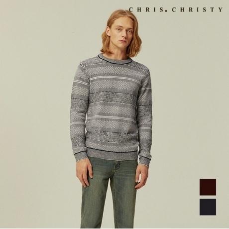 [크리스크리스티] [크리스크리스티] 남성 전판 조직 아크릴 스웨터_2KCXBLTW9161