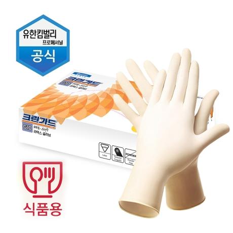 유한킴벌리 크린가드 라텍스 장갑/셰프장갑 100매