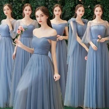 웨딩들러리복 롱 들러리 드레스 공연 파티 졸업드레스