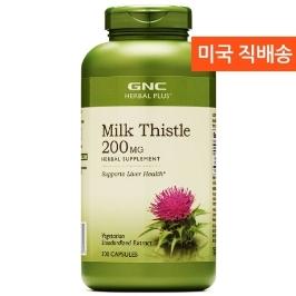 [지앤씨] [해외배송] 300정 GNC 밀크씨슬 실리마린 200mg