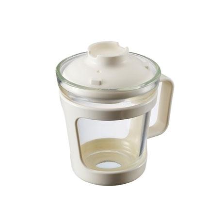 간편식 글라스 컵 용기 550ml 화이트(LLG480W)
