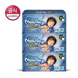 [마미포코] 꿀잠팬티 특대형 남아 28매 x3팩(1박스)[베]